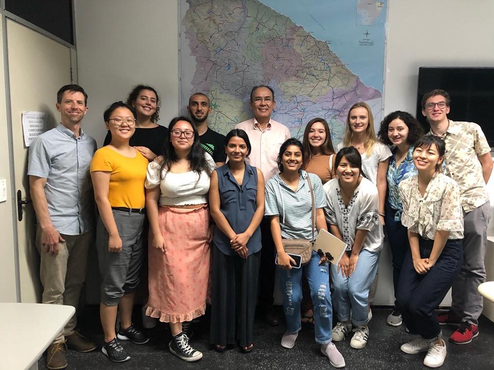 Estudantes da Califórnia visitam a SRH e planejam artigos sobre a Gestão Hídrica do Ceará