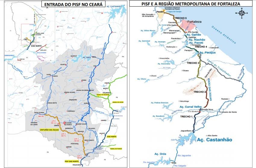 Conheça o caminho das águas do São Francisco no Ceará